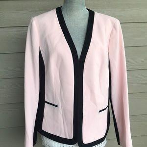 Kasper pink and black jacket size 16